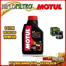 KIT TAGLIANDO 5LT OLIO MOTUL 7100 10W50 KAWASAKI ZX-12R A1,A2,B1,B2 Ninja (ZX1200) 1200CC 2000-2003 + FILTRO OLIO HF204