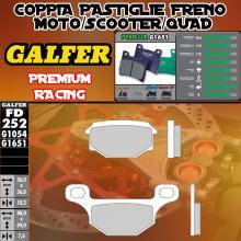 FD252G1651 PASTIGLIE FRENO GALFER PREMIUM ANTERIORI TGB 409 F 06-