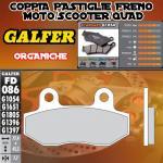 FD086G1054 PASTIGLIE FRENO GALFER ORGANICHE POSTERIORI KASEA KU 90 03-