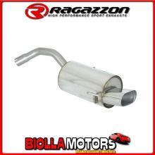 58.0042.11 SCARICO Evo Alfa Romeo 147 1.9JTD (85/103/110kW) dal 2001 > 10/2004 Posteriore inox con terminale ovale 128x80 mm