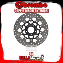2-78B40891 COPPIA DISCHI FRENO ANTERIORE BREMBO HARLEY DAVIDSON XL 1200 R 2000-2006 1200CC FLOTTANTE