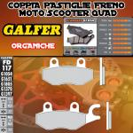 FD117G1054 PASTIGLIE FRENO GALFER ORGANICHE POSTERIORI TGB QUADBLADE 400 06-