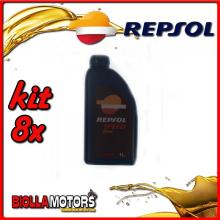 KIT 8X LITRO OLIO REPSOL MOTO SPEED GEAR 80W90 1LT TRASMISSIONE INGRANAGGI - 8x RI550R52