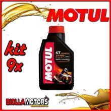 KIT 9X LITRO OLIO MOTUL 7100 4T 5W40 100% SINTETICO PER MOTORI 4T - 9x 104086