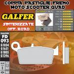FD093G1396 PASTIGLIE FRENO GALFER SINTERIZZATE POSTERIORI RIEJU MRX 450 05-