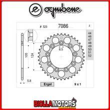 367086349 CORONA TRASMISSIONE 49 PASSO 520 TM MX 125 2012-2018 125CC