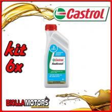KIT 6X LITRO CASTROL RADICOOL 1LT LIQUIDO RADIATORE - 6x 8033.