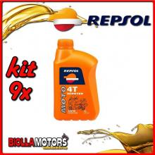 KIT 9X LITRO OLIO REPSOL MOTO SCOOTER 4T 5W40 1LT - 9x RP164L51IT
