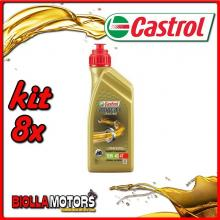KIT 8X LITRO OLIO CASTROL POWER 1 RACING 4T 10W40 - 8x CA14E94A