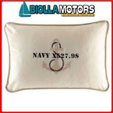 5801722 MB FREE STYLE 2PZ FODERA CUSCINO ECRU Cuscino Ricamato Navy 40x60