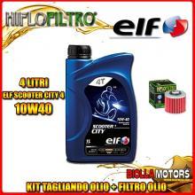 KIT TAGLIANDO 4LT OLIO ELF CITY 10W40 YAMAHA BT1100 Bulldog 1100CC 2002-2006 + FILTRO OLIO HF145