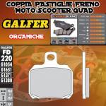 FD220G1054 PASTIGLIE FRENO GALFER ORGANICHE POSTERIORI YAMAHA YFA 1B 125 BREEZE (KIT YAMAHA FR.) 91-