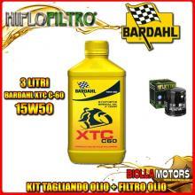 KIT TAGLIANDO 3LT OLIO BARDAHL XTC 15W50 MOTO GUZZI 1000 Daytona RS 1000CC 1997-2001 + FILTRO OLIO HF551