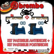 BRPADS-29900 KIT PASTIGLIE FRENO BREMBO HONDA XR R 2000- 650CC [CC+CC] ANT + POST