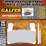 FD219G1375 PASTIGLIE FRENO GALFER SINTERIZZATE ANTERIORI HONDA CB 1300 SUPER BOL D'OR / ABS 05-