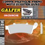 FD205G1054 PASTIGLIE FRENO GALFER ORGANICHE ANTERIORI VICTORY VISION 8 BALL 10-
