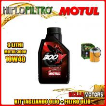 KIT TAGLIANDO 3LT OLIO MOTUL 300V 10W40 KTM 400 EXC 2nd Oil 400CC 2006-2007 + FILTRO OLIO HF157