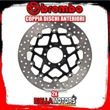 2-78B408A2 COPPIA DISCHI FRENO ANTERIORE BREMBO MOTO MORINI GRANPASSO 2008- 1200CC FLOTTANTE