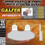 FD412G1380 PASTIGLIE FRENO GALFER SINTERIZZATE ANTERIORI SYM JOYRIDE 200i EVO 13-