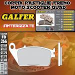 FD266G1370 PASTIGLIE FRENO GALFER SINTERIZZATE POSTERIORI KYMCO XCITING 250 R 08-