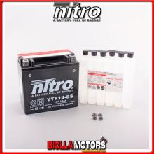 YTX14-BS-N BATTERIA NITRO YTX14-BS SIGILLATA CON ACIDO YTX14BS MOTO SCOOTER QUAD CROSS