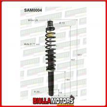 SAM0004 COPPIA AMMORTIZZATORI ANTERIORI MICROCAR CHATENET BAROODER C101,18,015 (MK004)