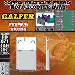 FD071G1651 PASTIGLIE FRENO GALFER PREMIUM ANTERIORI SIMSON 53 S OR, B, N 94-