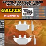 FD336G1054 PASTIGLIE FRENO GALFER ORGANICHE POSTERIORI SYM QUADRAIDER 600 LE 10-