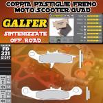 FD321G1397 PASTIGLIE FRENO GALFER SINTERIZZATE ANTERIORI KAWASAKI KVF 650 BRUTE FORCE 4X4 IZQ. 05-