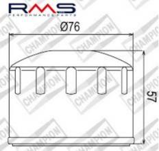 100609075 COF084 FILTRO OLIO APRILIA Scarabeo 500 GT / ABS 02-06 (C316)