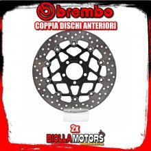 2-78B40841 COPPIA DISCHI FRENO ANTERIORE BREMBO KAWASAKI ZX-6R 1995-1997 600CC FLOTTANTE