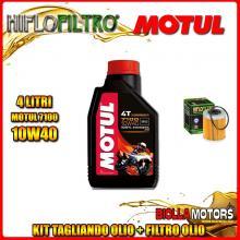 KIT TAGLIANDO 4LT OLIO MOTUL 7100 10W40 KTM 660 Rally E Factory Replica 2nd Oil 660CC 2006-2007 + FILTRO OLIO HF157