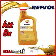 KIT 8X LITRO OLIO REPSOL MOTO COMPETICION 2T 1LT - 8x RP146Z51IT