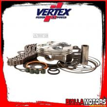 VTKTC24120B KIT PISTONE + CATENA + GUARNIZIONI VERTEX 76,77mm HONDA CR250F Compr. 14,3:1 2016-2017 (HC)