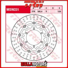 MSW231 DISCO FRENO ANTERIORE TRW MUZ MZ 660 SkorpionTraveller 1996-2004 [FLOTTANTE - ]