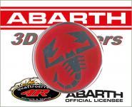 21546 ADESIVO 3D STICKERS SCORPIONE ABARTH D.44MM