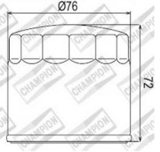 100609105 COF053 FILTRO OLIO DUCATI 916 SPS Fogarty Replica (Ltd. Edition) 99 (H301)