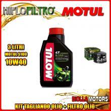 KIT TAGLIANDO 3LT OLIO MOTUL 5100 10W40 GILERA 800 GP / GP Centenario 800CC 2008-2014 + FILTRO OLIO HF565