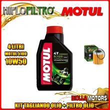 KIT TAGLIANDO 4LT OLIO MOTUL 5100 10W50 KTM 660 Rally E Factory Replica 2nd Oil 660CC 2006-2007 + FILTRO OLIO HF157