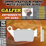 FD165G1396 PASTIGLIE FRENO GALFER SINTERIZZATE POSTERIORI BENELLI 570 SUPERMOTO 08-