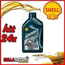 KIT 24X LITRO OLIO SHELL ADVANCE VSX 2 1LT - 24x 55952098