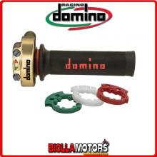 3846.03-00 COMANDO GAS ACCELERATORE XM2 ORO CON MANOPOLE RACING DOMINO YAMAHA YZF-R1 1000CC 09 >