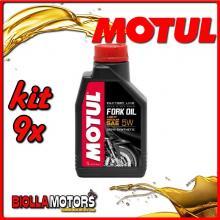 KIT 9X LITRO OLIO MOTUL FORK OIL FACTORY LINE LIGHT 5W FORCELLA - 9x 105924