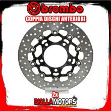 2-78B40897 COPPIA DISCHI FRENO ANTERIORE BREMBO KYMCO XCITING 2012-2014 400CC FLOTTANTE