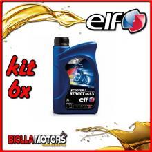 KIT 6X LITRO OLIO ELF SCOOTER STREET MAX 100% SINTETICO - 6x 201735
