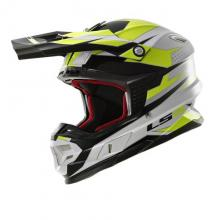 404564854/S ESA CASCO LS2 MX456 LIGHT FACTORY WHITE-BLACK-HI VIS YELLOW TAGLIA S