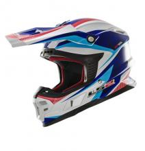 404566026/S ESA CASCO LS2 MX456 LIGHT QUARTZ WHITE-BLUE-RED TAGLIA S