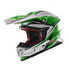 404566060/M ESA CASCO LS2 MX456 LIGHT QUARTZ WHITE-GREEN TAGLIA M