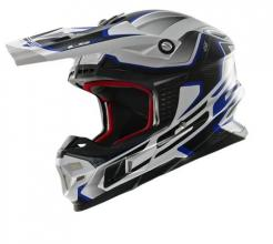 404566126/XXL ESA CASCO LS2 MX456 LIGHT COMPAS WHITE-BLUE TAGLIA XXL