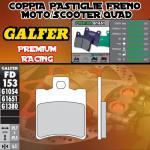 FD153G1651 PASTIGLIE FRENO GALFER PREMIUM ANTERIORI MBK MOTOBEKANE BOOSTER WHEEL 12- 06-